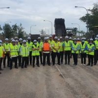 Lawatan Kerja Tapak oleh Pihak CSFJ JKR ke  Jalan Bukit Ibam - Leban Condong, FT63, Seksyen 18-21, Daerah Rompin,Pahang