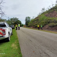 Lawatan pihak JKR ke tapak di Zon Timur / Tengah Daerah Kemaman Terengganu
