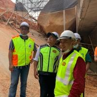 Lawatan Pengarah Cawangan Senggara Dan Fasiliti Jalan JKR ke laluan FT102 Seksyen 20 Jalan Ringlet- Sg Koyan Cameron Highlands Pahang