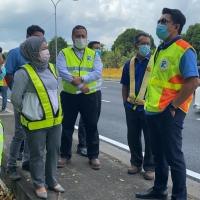 Lawatan Timbalan Ketua Setiausaha Kementerian Kerja Raya ke Jalan Persekutuan disekitar Pelabuhan Klang Selangor